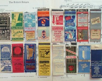 SALE Lot of 16 Vintage Matchbook Covers