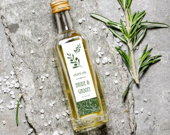 Personalized Olive Oil Favor Labels - Flavored With Love - DIGITAL FILE