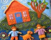 Felt Art Book - Needle Felting - Wee Folk - Felted Fairies - Woodland - Craft Book - Wool - Artsy