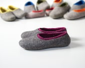 Felted slippers, Felted clogs, Natural Wool slippers Women slippers, Felted Footwear Warm slippers, House shoes, Girlfriend gift for wife