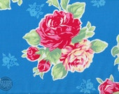 Floral Collection Flower Sugar Fabric by Lecien -L30967-70 Blue