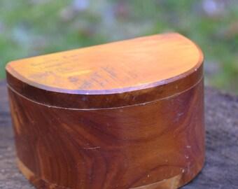 Wooden Box Souvenir from Truitt's Cave, Lanagan, MO