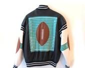 GREAT Vintage Michael Hoban WHEREMI Leather Football Jacket