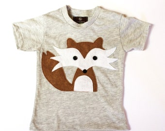 boys shirt - FLYNN the HANDSOME FOX - unisex kids fox shirt -baby - toddler - boys fox t shirt - woodland animals - tops - boys gift