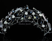 Crystal Crown Quartz Crown Crystal Tiara Quartz Tiara Wedding Tiara Flower Crown Branch Crown Raw Quartz Crown Quartz Headband Bridal Crown