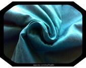 Verdigris Turquoise Pure Dupioni Silk Fabric, Indian Silk Fabric, Bridesmaid Gown Material, India Fabric, Dark Turquoise Silk Fabric