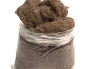 1LB Bag of Carded Scoured Wool Filler - Natural Gray
