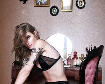 Demi velvet bralette lingerie set