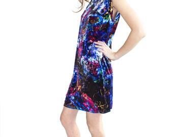 Fluorescent Velvet Dress