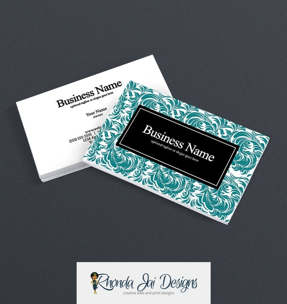 Business Card Designs Etsy Shop Business Cards 2 Sided