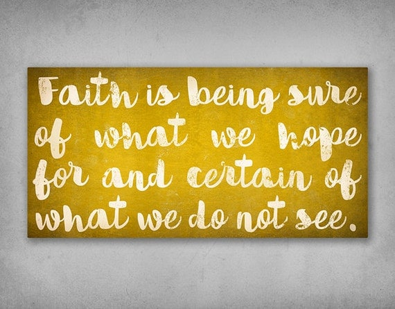 FAITH Canvas Wall Art Text Sign Wall Art -  1.5 inch Stretched Canvas - Ready-to-hang - Signed religion religious art christian scripture