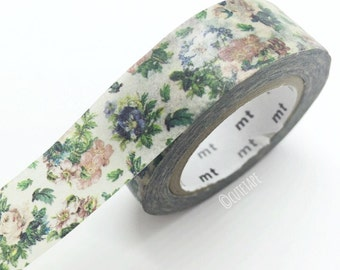 Japanese vintage flower Washi tape