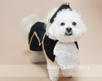 Dog costume- Captain- The captain- Pirate- halloween dog costume- halloween pet