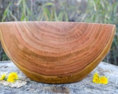"Wood Bowl, 14"" Cherry  Bowl, X-Large Cherry Wood Bowl, Salad Bowl, Bread Bowl, Centerpiece, hand turned, red,"