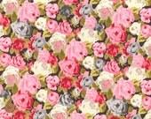 Sheona Rose, Liberty Tana Lawn Fabric, Liberty of London, Liberty Japan, Vivid Rose, Floral Design, Cotton Print Scrap, Patchwork, kt5053c