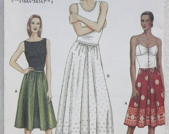 """Sz 6-8-10 Vogue Very Easy  Sewing Pattern 7689 Skirt and Slip Waist 23"""" - 25"""""""