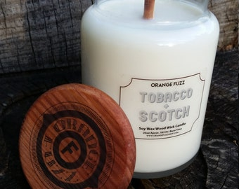 Large Soy Wax Wood Wick Candle - Choose Scent