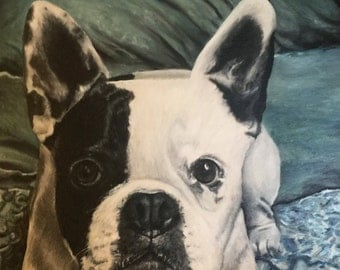 "16""x20"" Custom Pet Portrait dog portrait - custom painting - dog lover - fine art portrait"