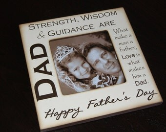 Father's Day Gift Personalized Picture frame , Gift for Daddy from kids, Father's Day Gift for Husband, Typography