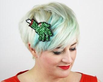 Zombie Hand Hair Clip, Glitter Hair Accessory