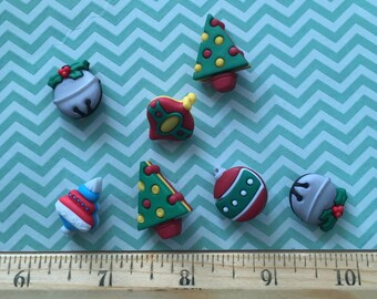 "Christmas Ornament Buttons, Packaged Novelty Button Assortment ""Jingle Bells"" Style #4779 by Buttons Galore, Sewing, Crafting Embellishments"