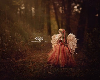 Flower Girl Woodland Fairy Dress/Woodland Fairy/Woodland Fairy Dress..CUSTOM COLORS AVAILABLE, Size 1t, 2t, 3t, 4t, 5t, 6, 7, 8, 10