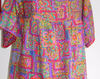 60s psychedelic tunic
