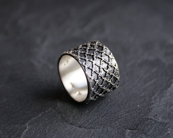 Lacey no 32 - sterling silver lace ring -  READY to SHIP in size 8 or made to order in your size