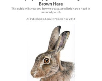 Step by Step Tutorial - Drawing a Brown Hare in Coloured Pencils