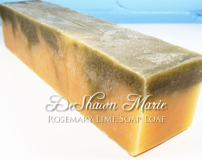 SOAP - 3 lb. Rosemary Lime Handmade Soap Loaf, Wholesale Soap Loaves, Vegan Soap, Cold Processed Soap, Natural Soap