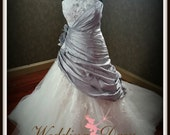 Gorgeous SIimming Silver Wedding Dress Custom Made to your Measurements