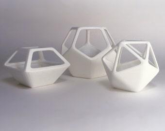 geometric air planter vase terrarium alternative set of 3 wireframe airplanters