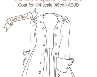 DCP07 - MSD size Baroque Coat pattern Digital Download