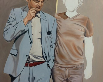 FINE ART PRINT of Original Oil Painting - 'The Lawyer' - Realism Surrealist Portait, American, Affordable, Signed Matted Reproduction