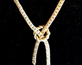 Sarah Coventry Love Knot Lariat Gold Necklace