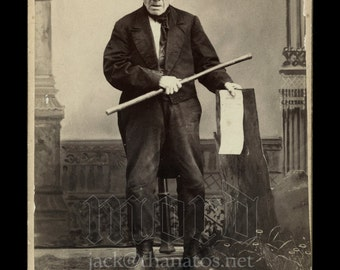 Very Rare Political Cabinet Card of 106 Year Old Voter with Ballot ~ Captain Costello