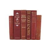 Burgundy Maroon Decorative Books , Old  Book , Decorative Book Set , Photo Prop ,  Wedding Book Decor , Book Lover Set , Home Decor