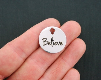 Believe Stainless Steel Charm - Exclusive Line - Quantity Options - BFS812