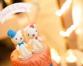 Teddy Bear Cake Topper, Wedding Cake Decor, Bear Wedding Cake Topper, Name Cake Topper, Bear Bride and Groom