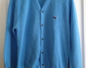 Vintage Izod Lacoste Men's Light Blue Cardigan
