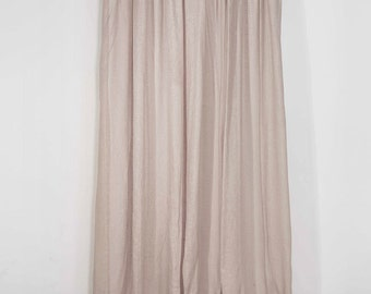 Sheer linen curtains, Pencil pleat window curtain panels, White, Off white, Light grey window drapes, Pinch pleat curtains