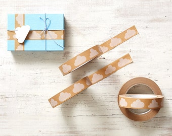 Cloud paper gift tape - paper craft tape for packaging and giftwrapping