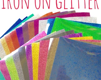 Glitter HTV - Iron On Heat Transfer Vinyl - 39 colours