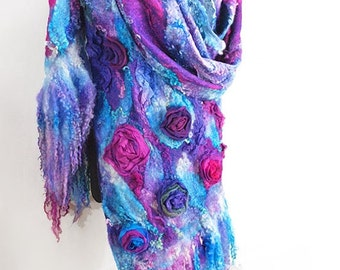 "Wrap felted ""Lorelei"""