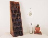 wood letterpress furniture, type tray, Hamilton, type cabinet, letterpress cabinet, printers cabinet, wood printers blocks circa 1950