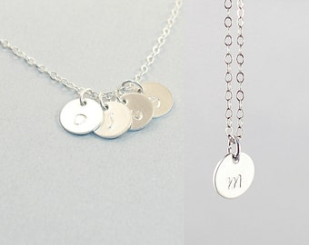 Personalized mom necklace, sterling silver custom mom necklace personalized mom jewelry engraved necklace for mother mom birthday gift
