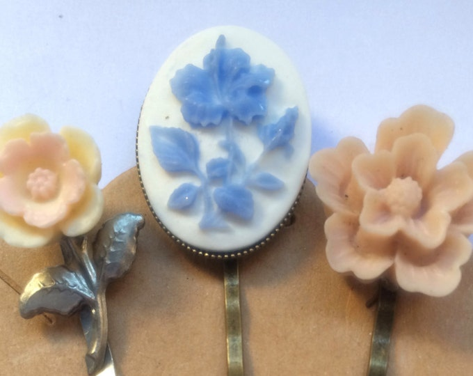 Bobby Pins, Hair Pins, Hair Clips, Hair Barrettes, Flower Hair Clips