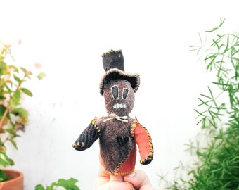 Limited Edition Upcycled Monster Finger Puppet