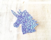 Super cute and sparkly glitter pastel unicorn hair clip Kawaii pin up