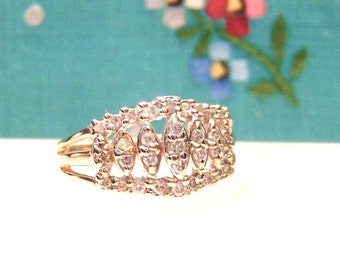 Diamond 14K .50 Carats Wide Band Ring, Wedding,Anniversary, Free Shipping